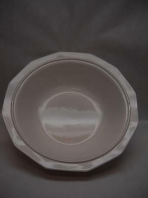 PFALTZGRAFF Ironstone LARGE SERVING BOWL Octagonal DESIGN Cream COLOR Lines