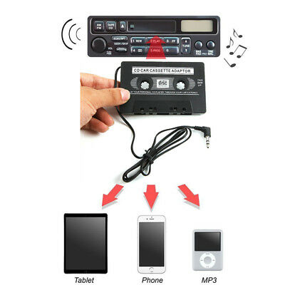 3.5mm AUX Car Audio Cassette Tape Adapter Transmitters For MP3 IPod Black