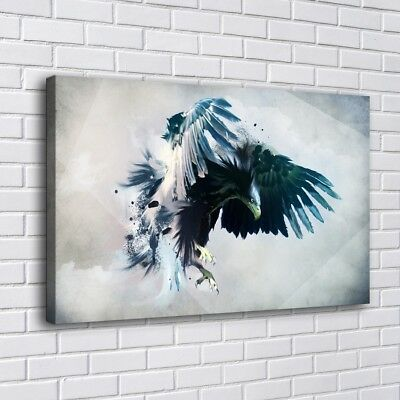"12""x20""Eagle Wings Fantasy Painting HD Print  Canvas Home Decor Wall Art Picture"