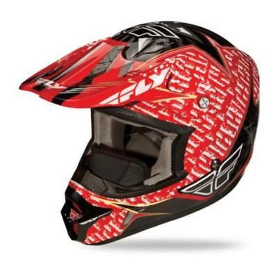Fly Racing Aurora Graphics Helmet (Red, Small)