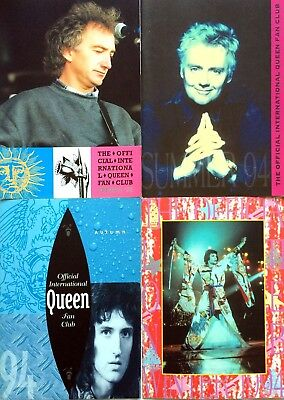 Official International Queen Fan Club - 1994 (four) Magazine Collection