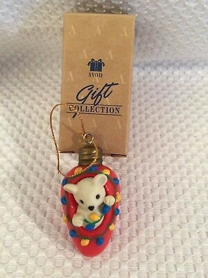 Cutie Light Bulb Mouse Avon Gift Collection Christmas Ornament Adorable