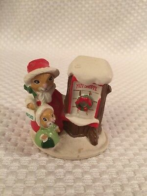 Forest Friends Shopping for Treats  Mini Figurine Christmas Holiday Miniature