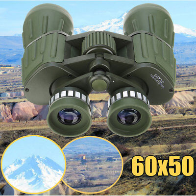 Day Night Prism 60x50 HD Military Army Zoom Binoculars Hunting Camp + Carry Bag