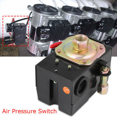 Single 1 Port Pressure Switch Fr Air Compressor 135-175PSI Heavy Duty 26Amps Hot