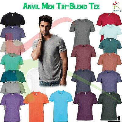 Anvil New Adult Triblend Tee Mens Smooth & Soft Draping T Shirt Casual T-Shirt