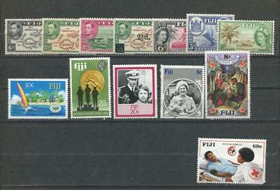 1938+ Fiji,Lot Collection Mint With NH Stamps