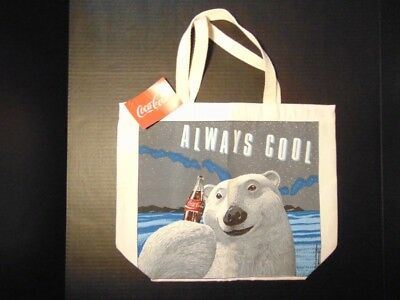 Coca-Cola TM Brand Tote Bag - Always Cool Bear Design - Dated 1991c - New