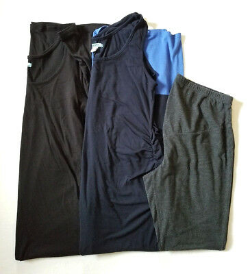 OLD NAVY Materntiy Summer LOT of 3 Leggings Sleeveless Maxi Dress  Casual Sz L