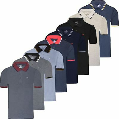 38dc0696 Mens American Eagle Polo Shirt Outfitters Pique Short Sleeve Designer Top  Tee