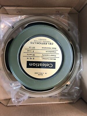 "CELESTION G12H30 55 hz 8 Ohm Ohms Heritage Series Greenback 12"" Speaker"