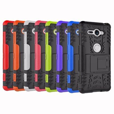 Shockproof Hybrid Rugged Armor Case Kickstand Cover For Sony Xperia XZ2 Compact