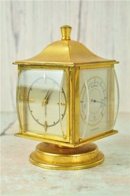 Vintage Four faced Angelus Clock with hygrometer, barometer, and thermometer