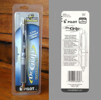 NEW SEALED PILOT DR. GRIP CENTER OF GRAVITY PENCIL CHARCOAL GRAY 0.7mm 36280