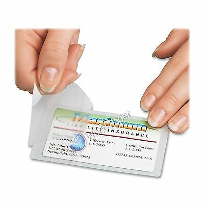 3 Mil Credit Card Laminating Pouches, 2.63 x 3.85 Inches, 100 per Box