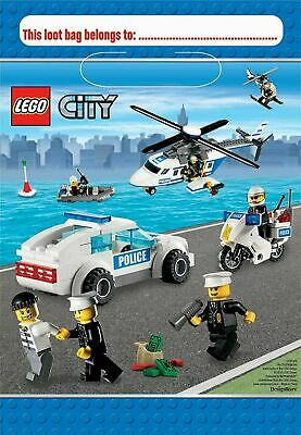 Lego City Loot Bags Pack of 8