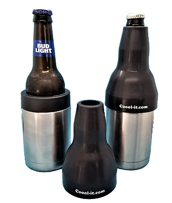 Long Neck Bottle Adapter ONLY, fits Yeti style stainless bottle koozie coozie