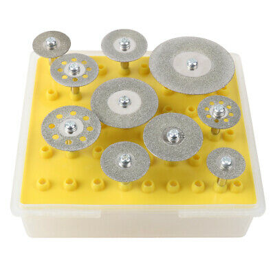 10Pcs Mini Sharp Diamond Cutting Disk Metal Rotary Tool Saw Blade Cutter Tools