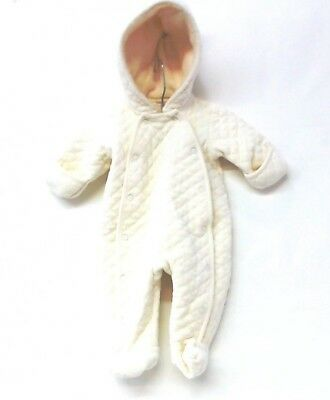 Nordstrom Baby Infant Girls Ivory Quilted Snowsuit Baby Pram Snow Suit