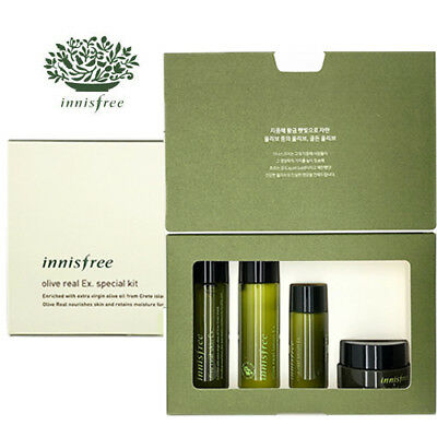 [INNISFREE] Olive Real Hydrating Skincare Ex 4pcs Special Kit Ex TRAVEL SIZE NEW