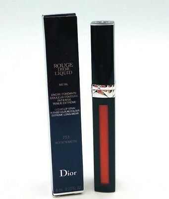 Dior Rouge Dior Liquid Metal Liquid Lip Stain 751 Rock N Metal .20oz New In Box