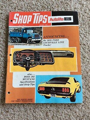 Janu. 1970 Ford Autolite ship-tips magazine features the Boss 302