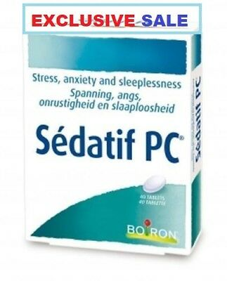 SEDATIF PC BOIRON 40tabs  HOMEOPATHIC RELIEF ANXIETY,MILD SLEEP DISORDER,STRES