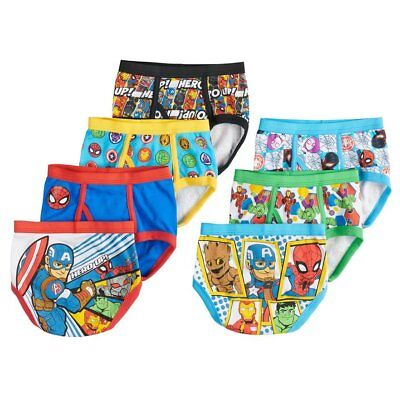Marvel Avengers Toddler Boys' Briefs 7-Pack Superhero Underwear Size 4T