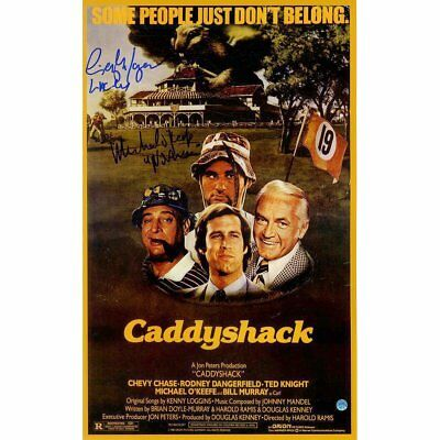 Caddyshack Movie Quotes 16x32 Framed Collage Cindy Morgan Michael O'Keefe Auto