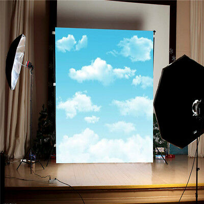 3x5FT Blue Sky White Clouds Backdrop Studio Photography Outdoor Photo Background