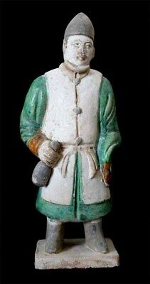 *sc* Scarce Chinese Ming Dynasty Pottery Figure Of A Persian Attendant!!