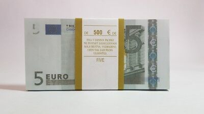 5 EURO FUNF € Pack of notes paper money souvenir Play Money Training Banknotes