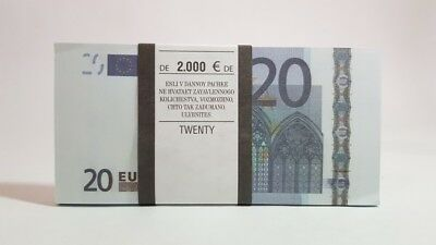 20 EURO  € Pack of notes paper money souvenir Play Money Training Banknotes