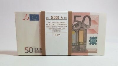 50 EURO  € Pack of notes paper money souvenir Play Money Training Banknotes