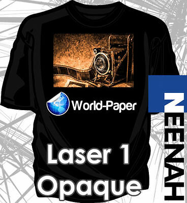 "Laser Iron-On Heat Transfer Paper -  Neenah 1 Opaque 8.5"" x 11"" For Darks 50Pk"