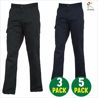3 OR 5 PACK Ladies Cargo Combat Trouser Womens Work Pants Safety Bottoms UK 8-20