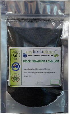 Black Hawaiian Lava Salt - Gives Yummy Flavor - Unique Organic Gourmet -Fine Gr.