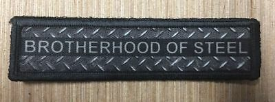 1x4 Brotherhood of Steel Morale Patch Military Tactical Army Flag USA Hook