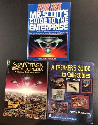 Star Trek Mr Scotts Guide To Enterprise Hc Collectibles Encyclopedia 3 Book Lot