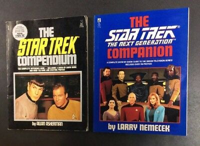 Star Trek Tv Original Next Generation Companion Compendium Book Lot Kirk Picard