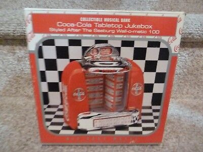 Coke Coca Cola Tabletop Jukebox collectible musical bank Seeburg RARE NEW