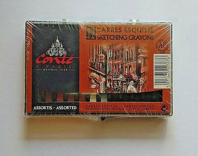 Conte Crayons Sketching Set of 12 - Earth Classic Tones