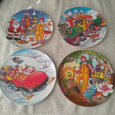 McDonalds collector plates Christmas forest 2000, 2001, 2002, 2003 suncoast ind.