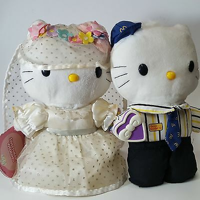 Hello Kitty Sweatheart and Dear Daniel McDonalds Crew Plush Set w/ Tags 2000 YR