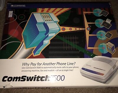 ComSwitch 7500 Command Communications, 4 Port Sharing From 1 Single Phone Line