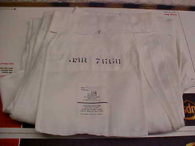 USN Sea Cadet Male Enlisted Uniform Dress White Pants Bell Bottoms 35R loc#w196
