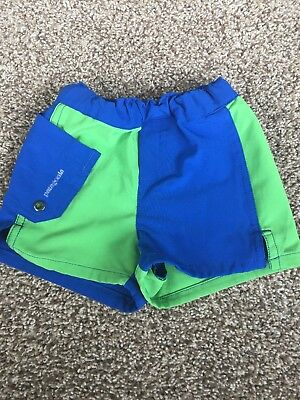 Baby Boys PATAGONIA Swim/Board Shorts~Blue/Green~Size 6 Months