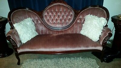 3 piece antique sofa and chairs