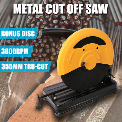 355mm Metal Cut Off Drop Saw Electric chop Industrial Cutting Demolition Machine