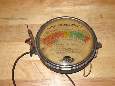 Vintage Battery Condition Indicator Tester Stamped 1941 Marquette Manufacturing
